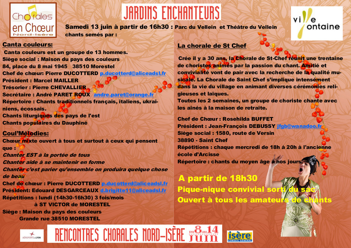 Rencontres chorales nord isere